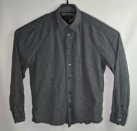Country Road Men's Grey Slim Fit Long Sleeve Button Up Shirt - Size M