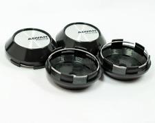 4pcs 68mm Advan Racing Emblems Wheel Center Caps Hubcaps Rim Caps Silver Black
