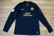 SIZE M BARCELONA 2011-2012 AWAY FOOTBALL LONGSLEEVE SHIRT JERSEY CAMISETA BLACK