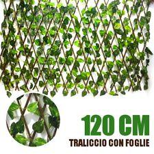 TRALICCIO CON FOGLIA EDERA SINTETICA 120x180 CM SIEPE FINTA SIEPE ARTIFICIALE