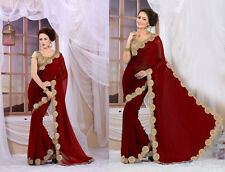 Indian Ethnic Wear Women Designer Saree Bollywood Replica Bridal Wedding Saree