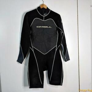O'NEILL USA Wetsuit Shorty 2.1 mm Wet Suit Mens XL Black/gray neoprene/nylon