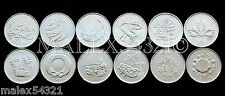 SET OF (12) 2000 MILLENNIUM TWENTY-FIVE CENTS UNC