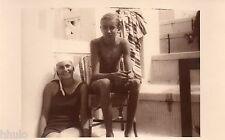 BJ487 Carte Photo vintage card RPPC enfant maillot de bain jeune fille et garçon