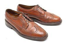 VTG Florsheim Mens Dress Shoes 10.5 E Brown Leather Longwing Blucher 93602