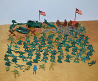 """Vintage PLASTIC ARMY MEN LOT Figurines 2"""" Tall 1980's Airfix & Other Hong Kong"""