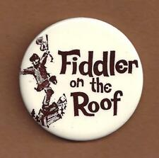 "Zero Mostel ""FIDDLER ON THE ROOF"" Beatrice Arthur / Bock & Harnick 1964 Pinback"