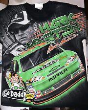 Nascar Chase Authentics Mark Martin #5 Go Daddy All Over Print T Shirt sz M/L