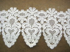 "VINTAGE FINE VISCOSE GUIPURE VENISE LACE 4"" WIDE GALLOON OFF-WHITE 10 YARDS"