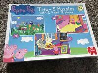 Peppa Pig Trio  of Jigsaw Puzzle  Aged 3+