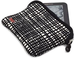 """BUILT Kindle Reversible Neoprene Sleeve Zip Case 7"""" Tablets - City Grid /Black"""