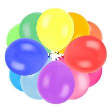 Quality Latex Balloon Set: Multicolour / Rainbow x 50 Birthday Party Celebration