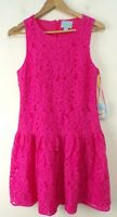 NWT CECE by CYNTHIA STEFFE Hot Pink Floral Lace Sleeveless Summer Dress Size 8