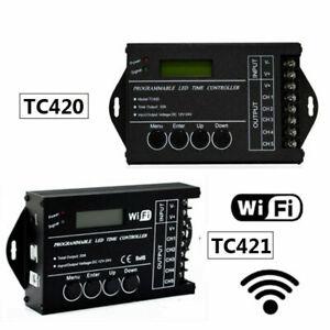 TC420 Time programmable RGB LED Controller 12V-24V TC421 WIFI LED Timing dimmer