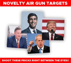 50 x TARGETS Airgun Rifle Pistol 22 177 14cm Boris Corbyn Trump Meghan Cummings