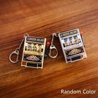 Mini Slot Machine Game Rotatable Key Chains Lucky Charm Keychain Pendant Gift