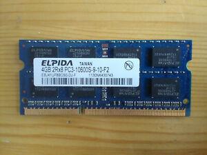 Elpida 4GB DDR3,  1333 MHz Laptop Memory (SO-DIMM) PC3-10600