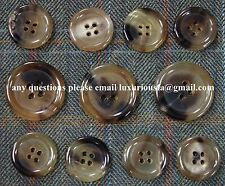 Made in Italy Beige Genuine Horn Buttons For Suit, Blazer, or Sport Coat
