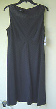 NWT NINE WEST GRAY STRIPES EMPIRE WAIST CAREER DRESS SIZE 12 $98