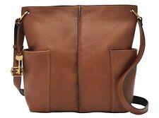 BNWT FOSSIL Cross Body Bag Lane Brown Leather RRP £149 Bargain