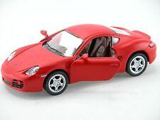 Kinsmart Porsche Cayman S (Matte Red) 1:34 Die Cast Metal Collectable Car