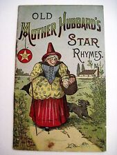 """Vintage Advertising Booklet for """"Star Soap"""" Titled """"Old Mother Hubbard's Rhymes"""""""
