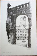 Caisse d'Epargne de Dijon, France 1958 Menu w/Wine & Artist-Signed Cover 1