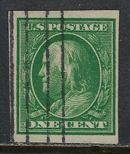SCOTT 383 1911 1 CENT FRANKLIN REGULAR ISSUE USED VF!