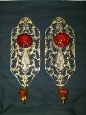 Set Of 2 Decorative Metal Coat Hooks With Knobs