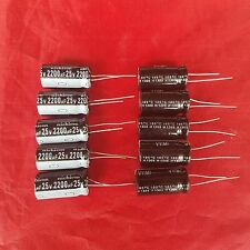 10PCS 2200UF 2200mfd 25V Electrolytic Capacitor 105 degrees USA FREE SHIPPING