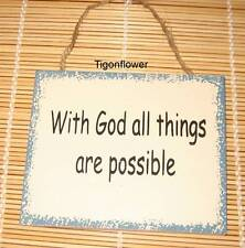 Wood Sign Magnet Words With God All Things Are Possible Buy 2 get 1 free mix