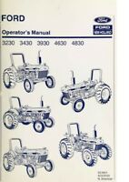 New Holland Ford Tractor Operator's Manual 3230 3430 3930 4630 4830 - Digital