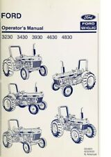 New Holland Ford Tractor Operators Manual 3230 3430 3930 4630 4830 Digital
