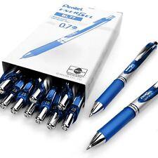 Pentel Energel XM Retractable Gel Pen with 0.7 mm Tip, Blue, Pack of 12
