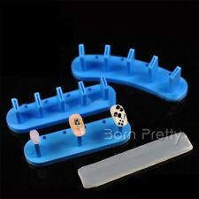 1Pc 10cm*2.7cm Blue Nail Art Practice Stand Holder False Tips Display
