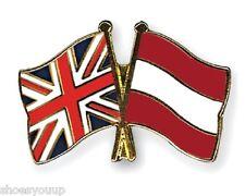 12 x Great Britain & Austria Friendship Enamel Pin Badges 2-4 week lead time