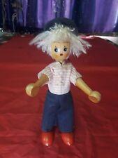 "Wood Peg Doll Boy 7"" Tall Circa 1950"