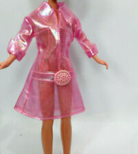"Doll Clothes fit 9"" Skipper Dolls Pink Plastic See Thru Jacket Lot #515"