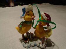 "Ducklings Baby Animal Christmas Ornament 3"" Figurine Danbury w Tag"
