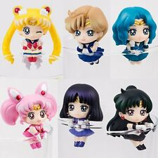 6pc/Set Sailor Moon OCHATOMO Series Tea Cafe Cute Figure Figurines Cup Coaster
