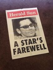 VINTAGE AUSTRALIAN ROCK AND ROLL INXS HUTCHENCE NEWSPAPER ORIGINAL POSTER