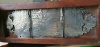 Antique silver inlaid wooden box with Arabic manuscript , Ca.1900 , Ottoman time
