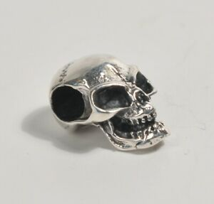 Silver 925 Skull Pendant Charm Gothic Steam Punk