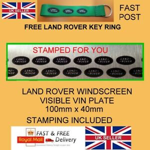 Land Rover Defender TD5 TDCi Windscreen Screen Chassis Info vin chassis plate