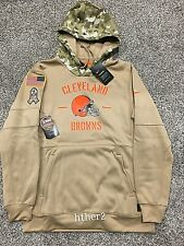 AUTHENTIC Nike 2019 Cleveland  Browns Salute to Service Hoodie All Sizes STS