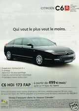Publicité advertising 2007 Citroen C6 HDI 173 FAP