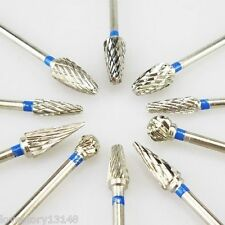 10 Pcs Tungsten Carbide Tungsten Steel Dental Burs Lab Burs Tooth Drill 2.3mm