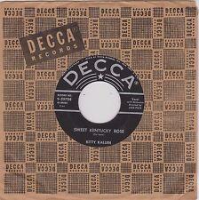 KITTY KALLEN {50s Pop Vocal} Sweet Kentucky Rose / How Lonely Can I Get? ♫HEAR