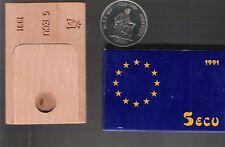 monedas españolas plata 1991 5 Ecus Averroes