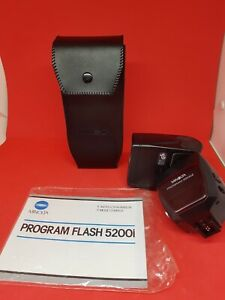 Minolta Program 5200i Bounce Swivel Power Zoom AF Flash for many Dynax Film SLRs